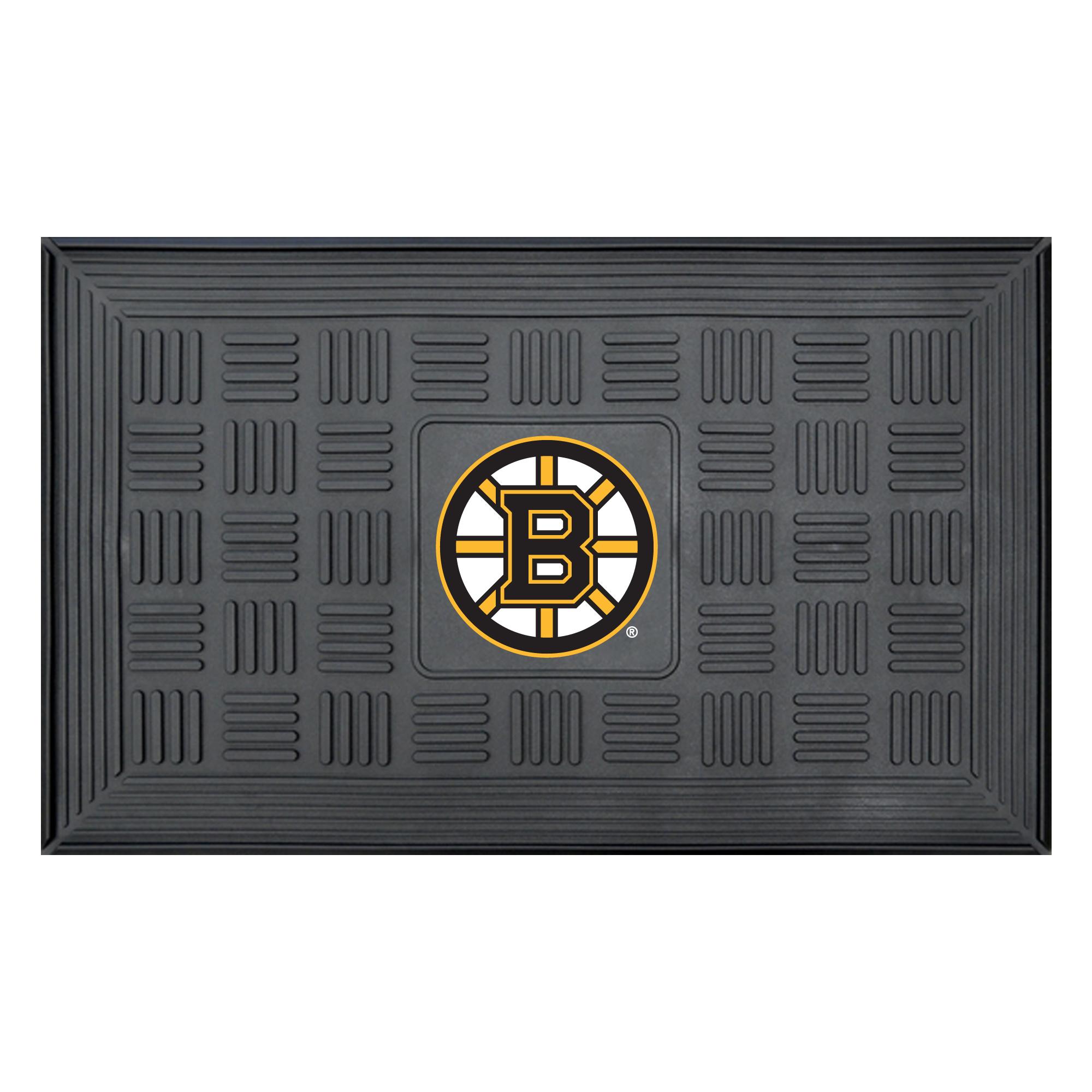NHL Boston Bruins 3-D Team Medallion Vinyl Door Mat