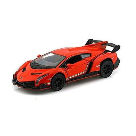 "5"" Kinsmart Lamborghini Veneno Diecast Model Toy Car 1:36 Orange"