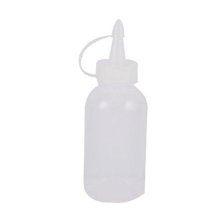 Soft Liquid (Unique Bargains 2 Pcs Pointy Nozzle Soft Plastic Industry Machine Liquid Oil Bottles)