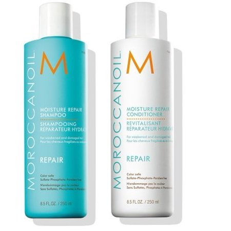 Moroccanoil Moisture Repair Shampoo & Conditioner Combo Set, 8.5 oz each ($49 (Best Damage Repair Shampoo And Conditioner)