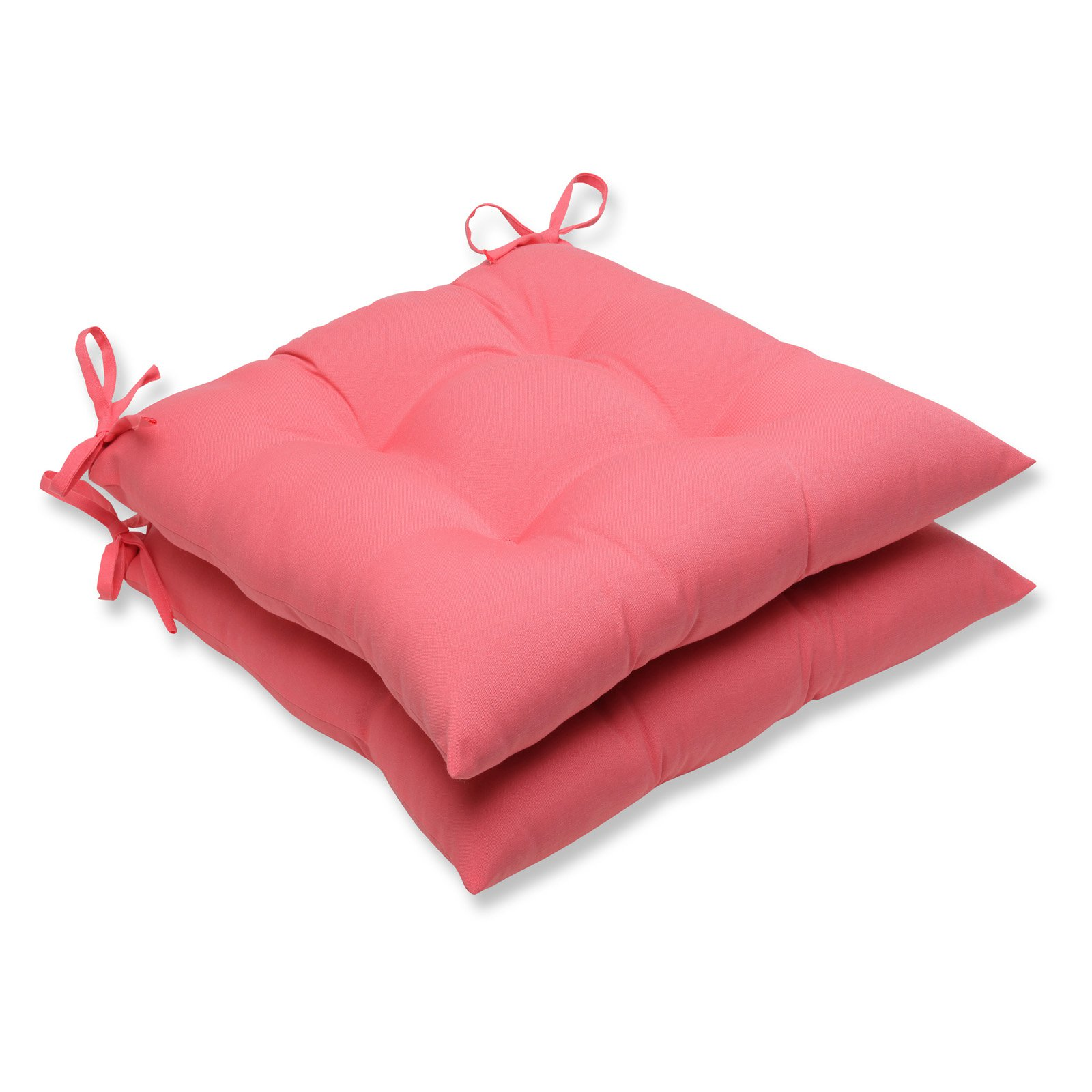 Pillow Perfect Outdoor/ Indoor Fresco Melon Wrought Iron Seat Cushion (Set of 2)
