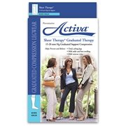 FLA Activa Sheer Therapy Open Toe Knee High- 15-20 mmHg