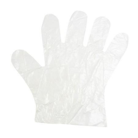 80pcs Plastic Disposable Gloves Restaurant Nail Art Hand (Nails Gloves)