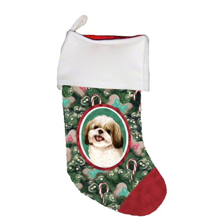 Shih Tzu Gold/White -  Best of Breed Dog Breed Christmas (The Best Christmas Stockings)