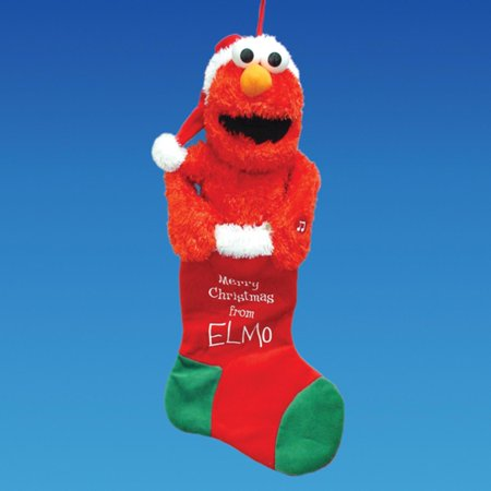 Pack Of 3 Sesame Street Animated And Musical Plush Elmo Christmas Stockings 20