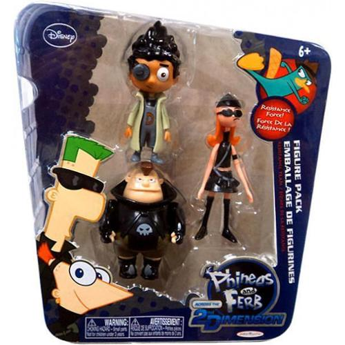 Disney Across the 2nd Dimension Resistance Team Action Figure 3-Pack