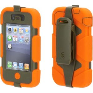 Griffin Blaze Orange/Olive Heavy Duty Survivor Case for iPhone 4/4s