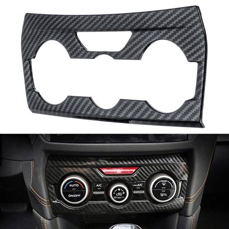 Cover Abs Panels (Air Conditioning Switch Adjust Panel ABS Carbon Fiber Cover Trim Fit For XV 2018 )