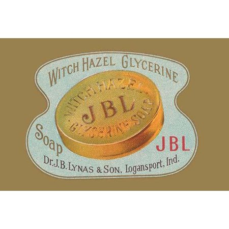 Glycerine soap bar package made by Dr JB Lynas under the well known brand name Witch Hazel famouse for making skin related beauty products Poster Print by - Dr Witch