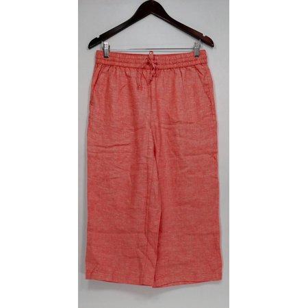 Liz Claiborne New York Women's Petite Pants 6P Jackie Cropped Orange - Liz Claiborne Petite Pants
