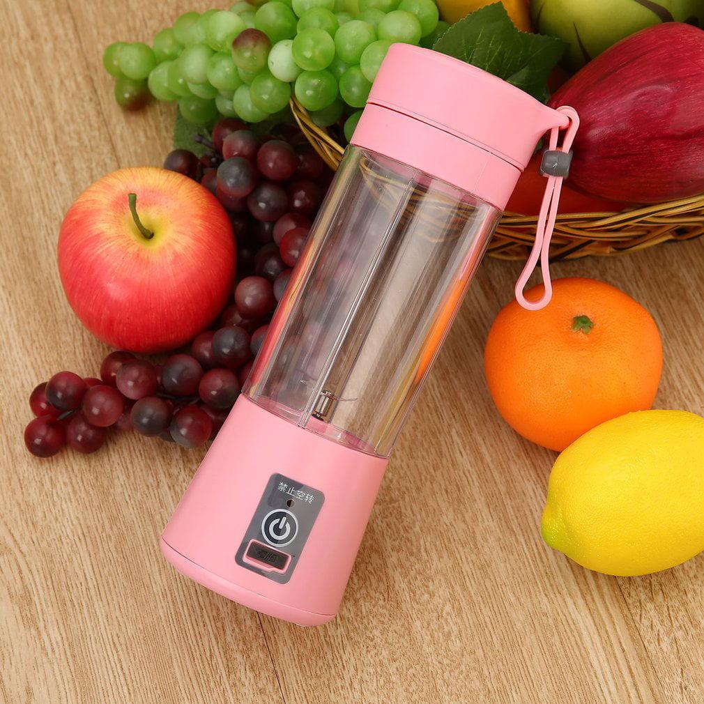 Portable Juicer Cup Rechargeable Battery Juice Blender 380ml USB Juicer