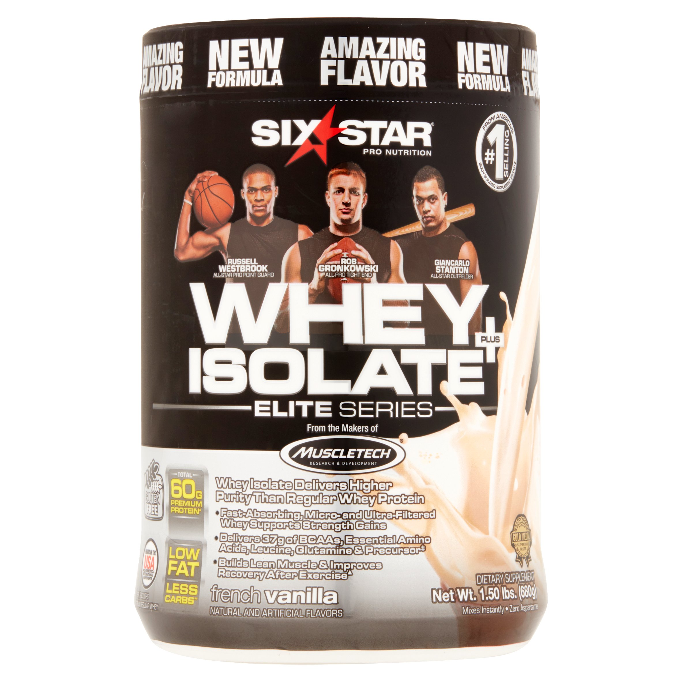Six Star Elite Series Whey Isolate Protein Powder 30 grams of Protein Vanilla Cream, 1.50 lbs