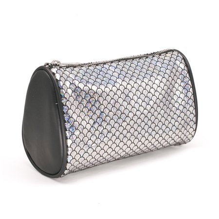 Fashion Women Makeup Bag Organizer Storage Bag Sparkling Fish Scales Pattern Zipper Case Cosmetic Bags Large Capacity - Fish Scale Makeup