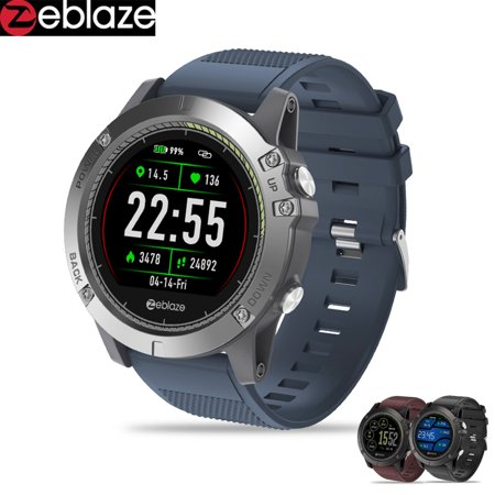[In Stock] 2019 Zeblaze VIBE 3 HR Smartwatch Durability Waterproof Smart Watch Men Wearable Excellent Battery Heart Rate (Best Wearable Tech 2019)
