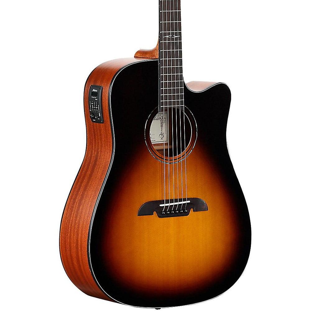 Alvarez AD610CESB Dreadnought Acoustic-Electric Guitar Sunburst by Alvarez
