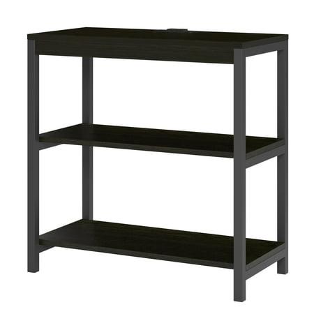 - Ameriwood Home Nickle Creek 3 Shelf Bookcase, Rustic Medium Oak