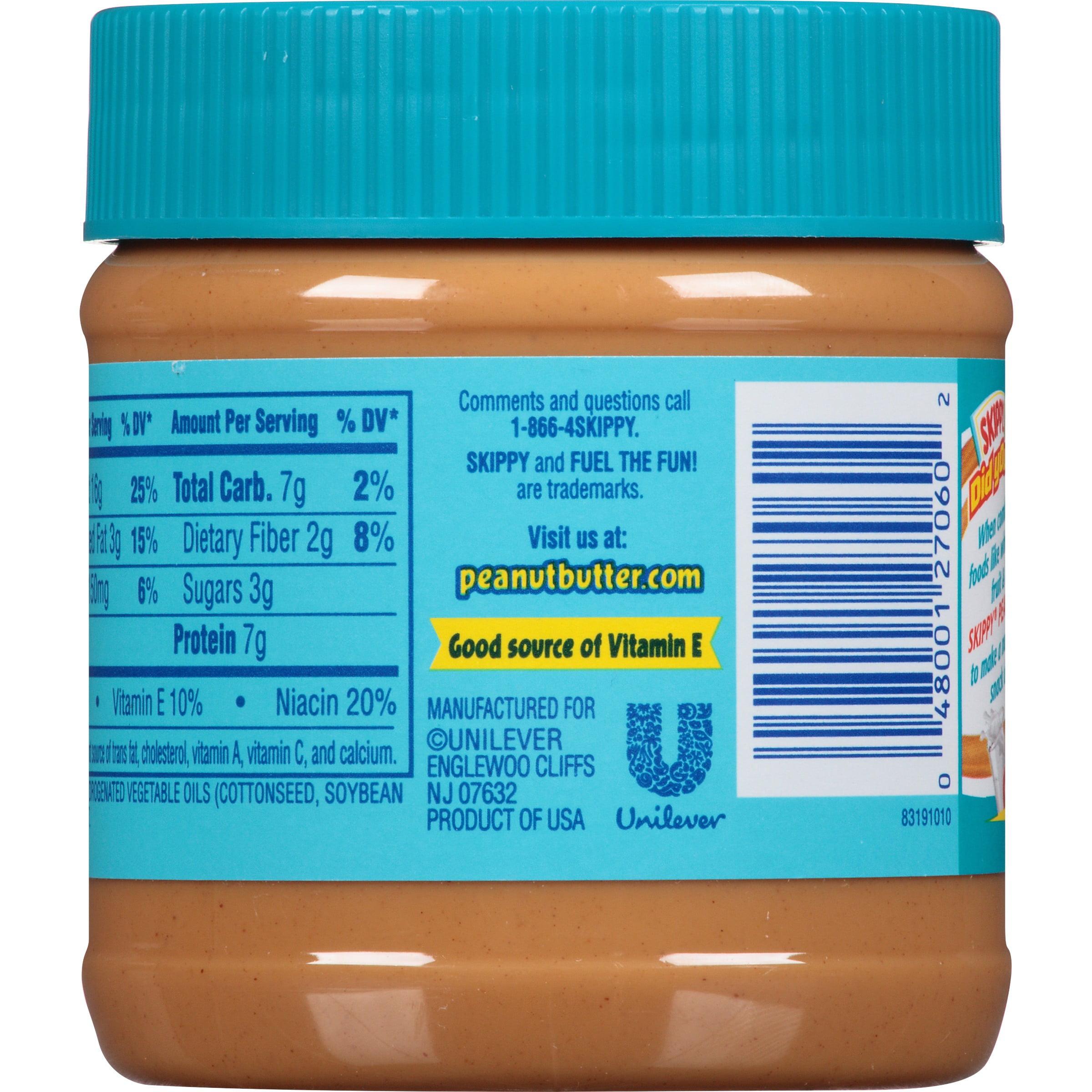 skippy creamy peanut butter 12 oz. jar - walmart