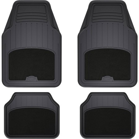 armor all 4 piece black carpet rubber interior floor mat. Black Bedroom Furniture Sets. Home Design Ideas