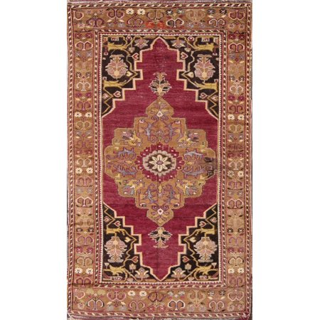 RugSource 4x7 Oushak Turkish Antique Oriental Hand-Knotted Area Rug Red