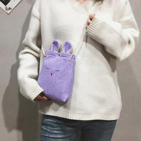 Fashion Linen Cloth Rabbit Style Women Bag Elegant Ladies Single Shoulder Bag - image 5 of 7