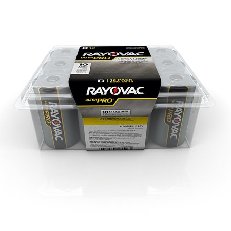 Rayovac Ultra Pro Alkaline D Batteries  12 Count