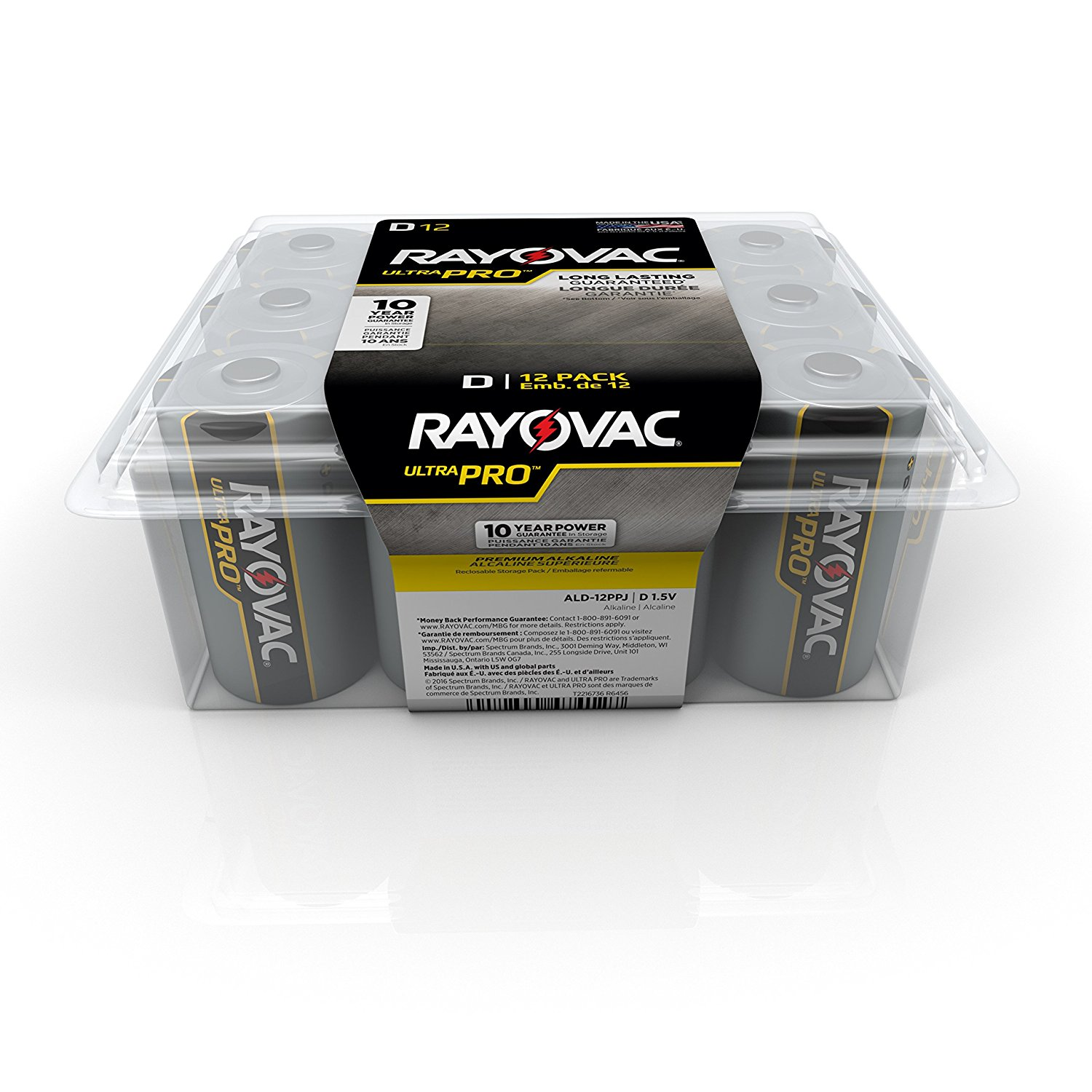 Rayovac Ultra Pro Alkaline D Batteries, 12 Count