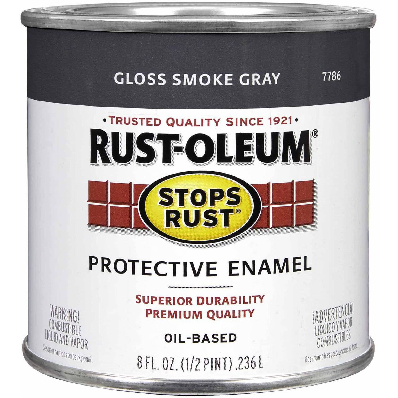 Rust-Oleum Stops Rust Protective Enamel, 1 2 pt, Gloss Smoke Gray by Rust-Oleum