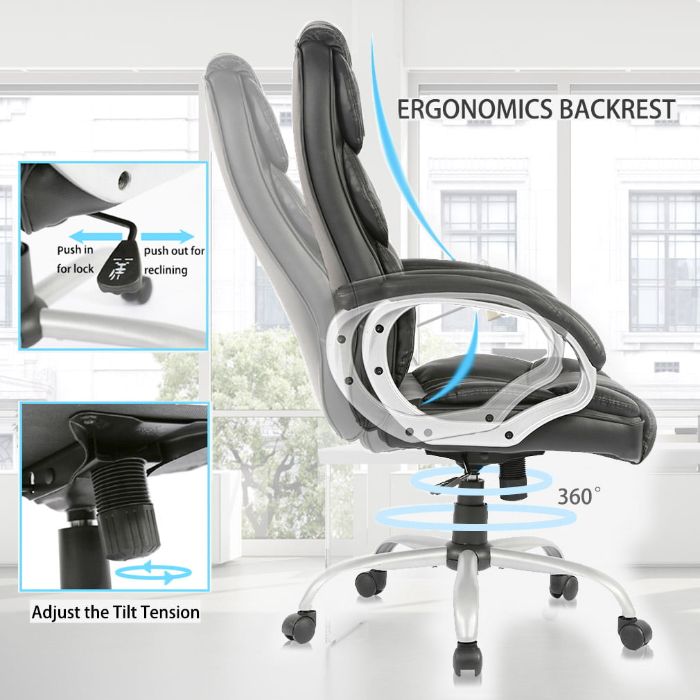 Miraculous High Back Executive Leather Ergonomic Office Desk Computer Chair O10 Brown Download Free Architecture Designs Grimeyleaguecom