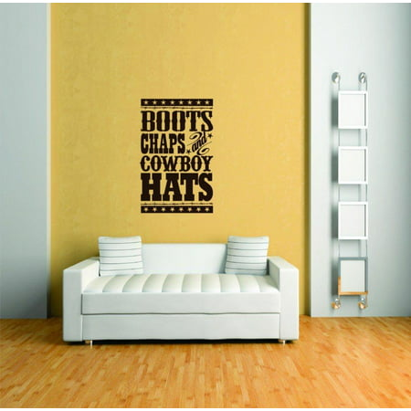 Do It Yourself Wall Decal Sticker Boots Chaps And Cowboy Hats Animal 30