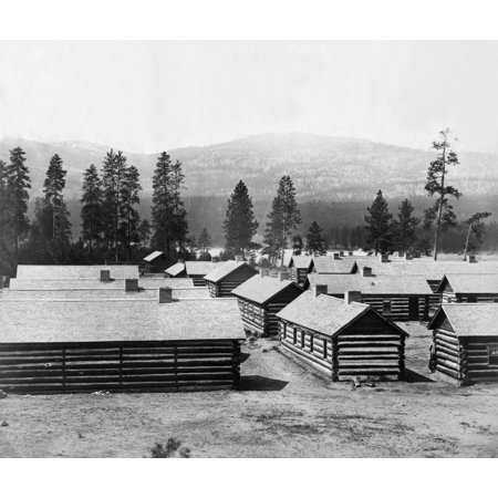 Log Cabin Barracks Nthe Winter Housing Quarters Of The British North American Boundary Commission On The Banks Of The Columbia River Near Fort Colville Washington State Photograph C1858 1861 Rolled Ca