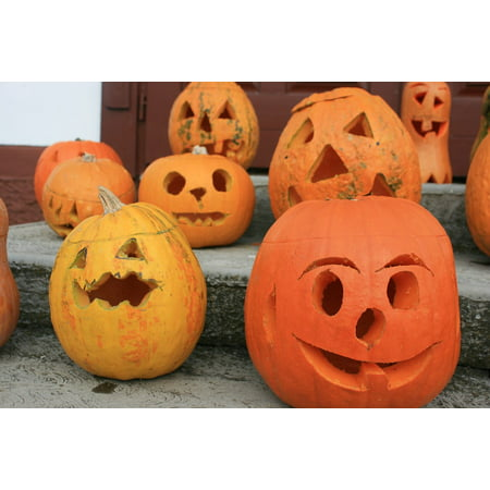 LAMINATED POSTER Carvings Pumpkin Halloween Poster Print 24 x 36 for $<!---->
