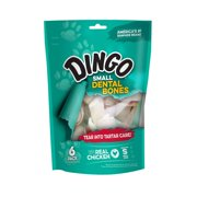 Dingo Dental Bones Dog Chews with Real Chicken, 6-Count