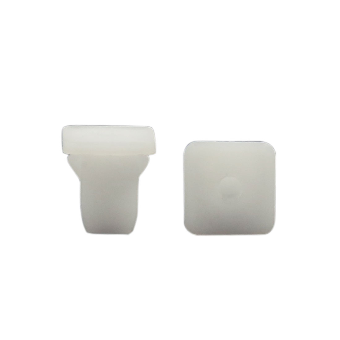100 Pcs Square Plastic Rivets Retainer Clip White for Bumper Fender 14mm Hole