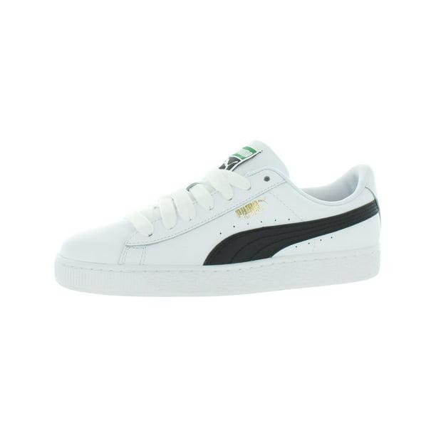 Puma Mens Basket Classic LFS Leather Basketball Shoes White 9 Medium (D)