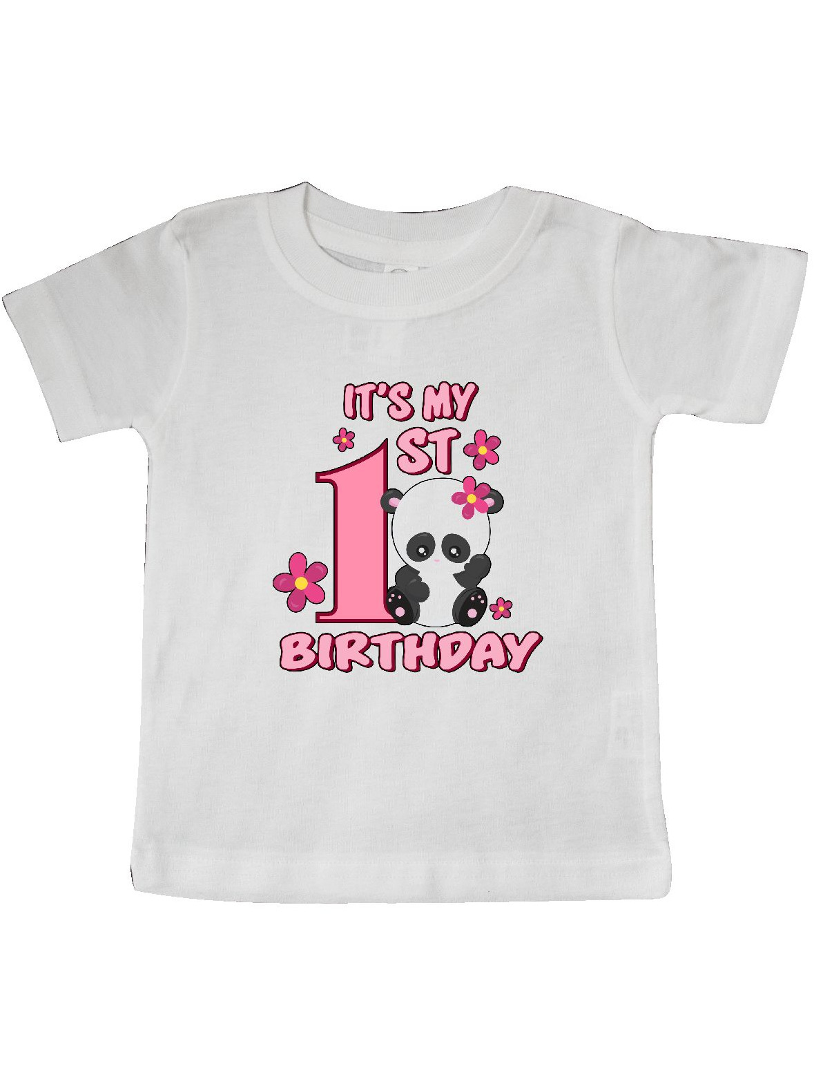 It's My First Birthday with Panda Bear Baby T-Shirt