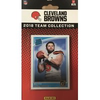 Cleveland Browns 2018 Donruss NFL Football Complete Mint 14 Card Team Set with Joe Thomas, Ozzie Newsome, Rookie Cards of Baker Mayfield and Denzel Ward plus