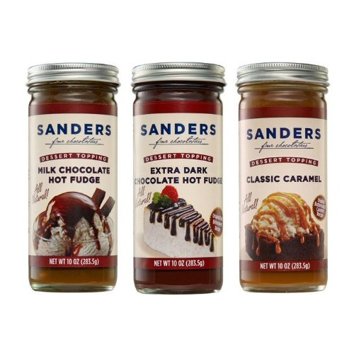 Sanders 10 oz. Topping Assortment - Gluten-Free - No High Fructose Corn Syrup - No Artificial Sweeteners - Made in USA