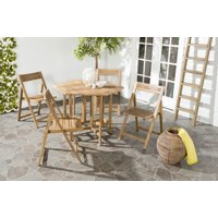 Safavieh Kerman Outdoor Modern Foldable 5 Piece Dining Set