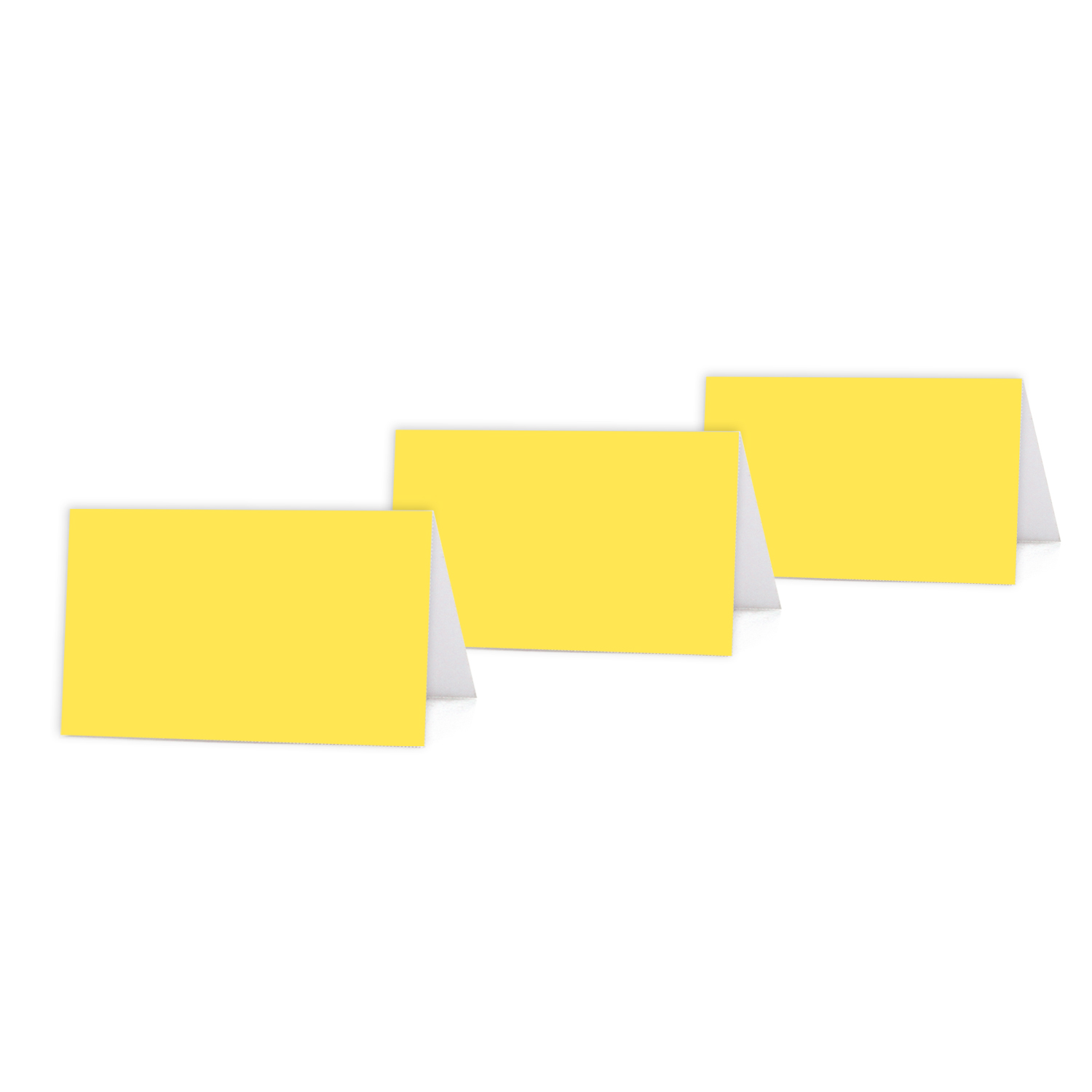 image relating to Printable Place Cards identify Yellow Colour Blank Desk Tent Printable Space Playing cards, 20-Pack