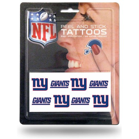 NFL New York Giants Tattoo Set, 8-Piece (Nfl Tattoos)