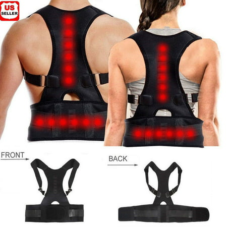 Magnetic Therapy Posture Corrector Body Back Pain Brace Shoulder Support Belt-M