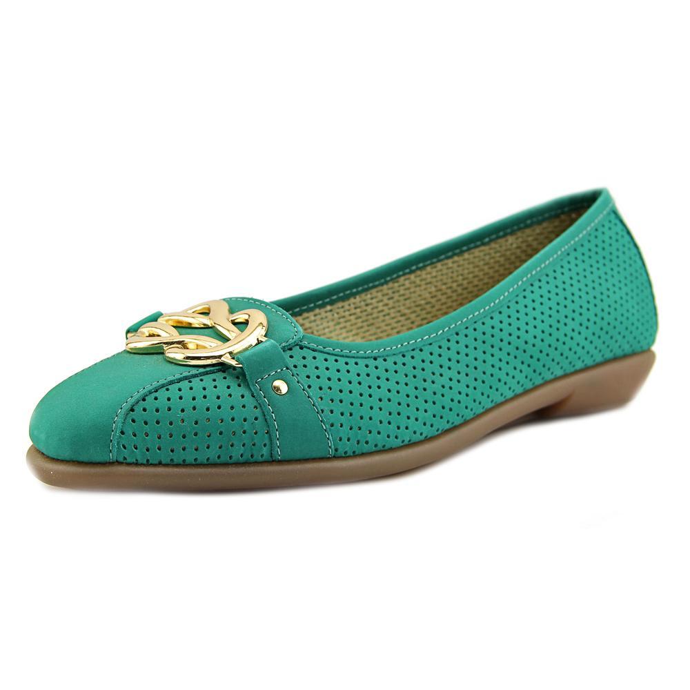 Aerosoles Women's High Bet Nubuck Blue Green Ankle-High Nubuck Flat Shoe 9M by Aerosoles