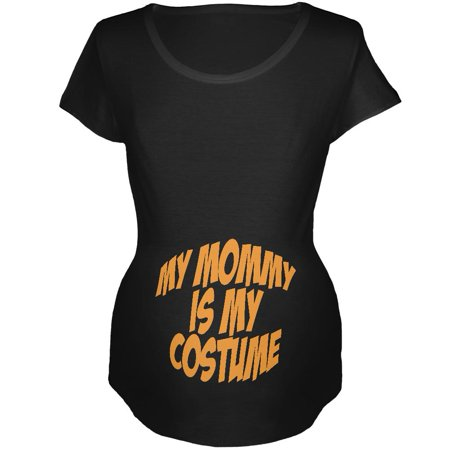 Halloween Mommy Baby Costume Black Maternity Soft T-Shirt (Baby And Mommy Halloween Costumes That Match)