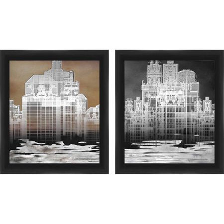 Framed graphic building blueprint wall art set of 2 walmart framed graphic building blueprint wall art malvernweather
