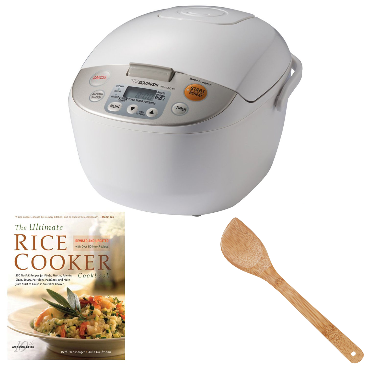 Zojirushi NL-AAC18 Micom Rice Cooker and Warmer with Deluxe Bundle