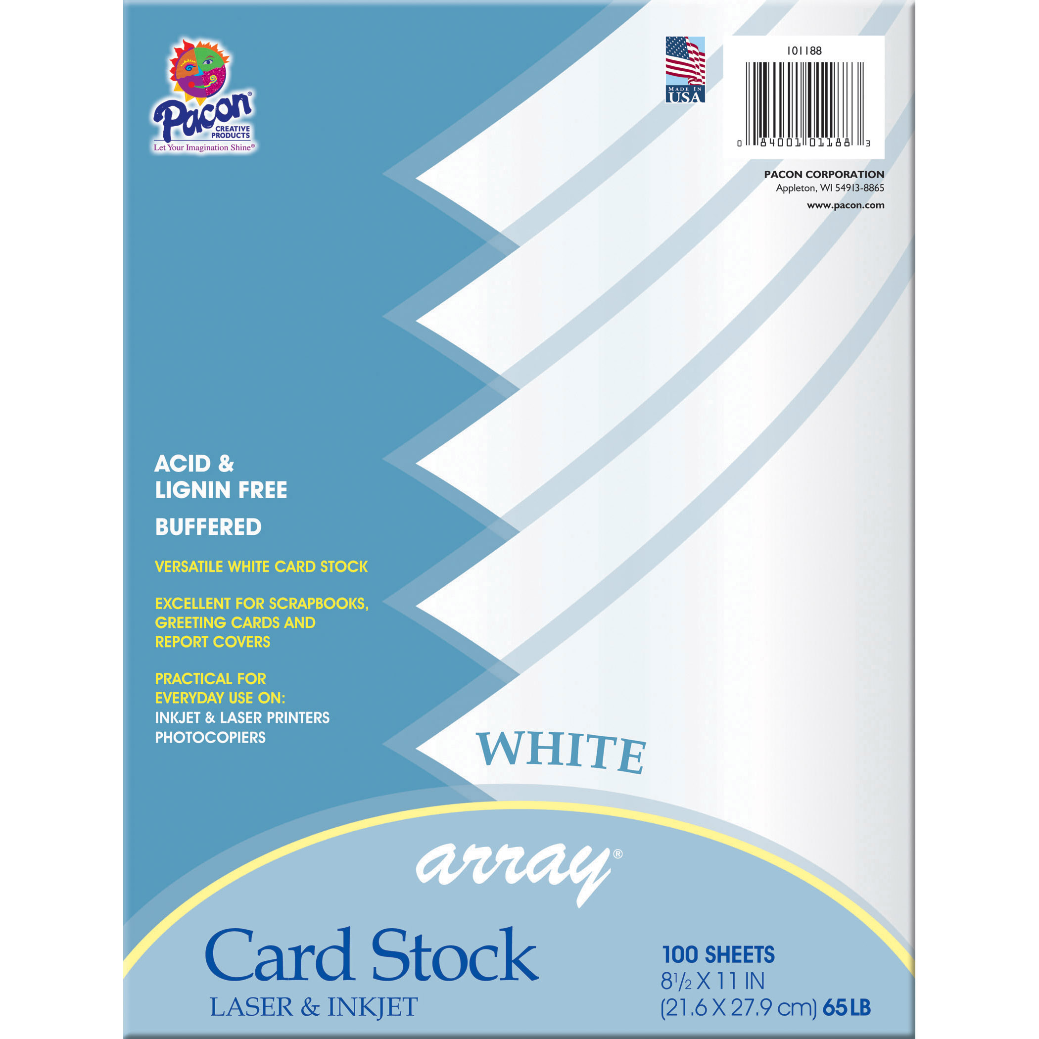 Array® Card Stock, White, 100 Sheets