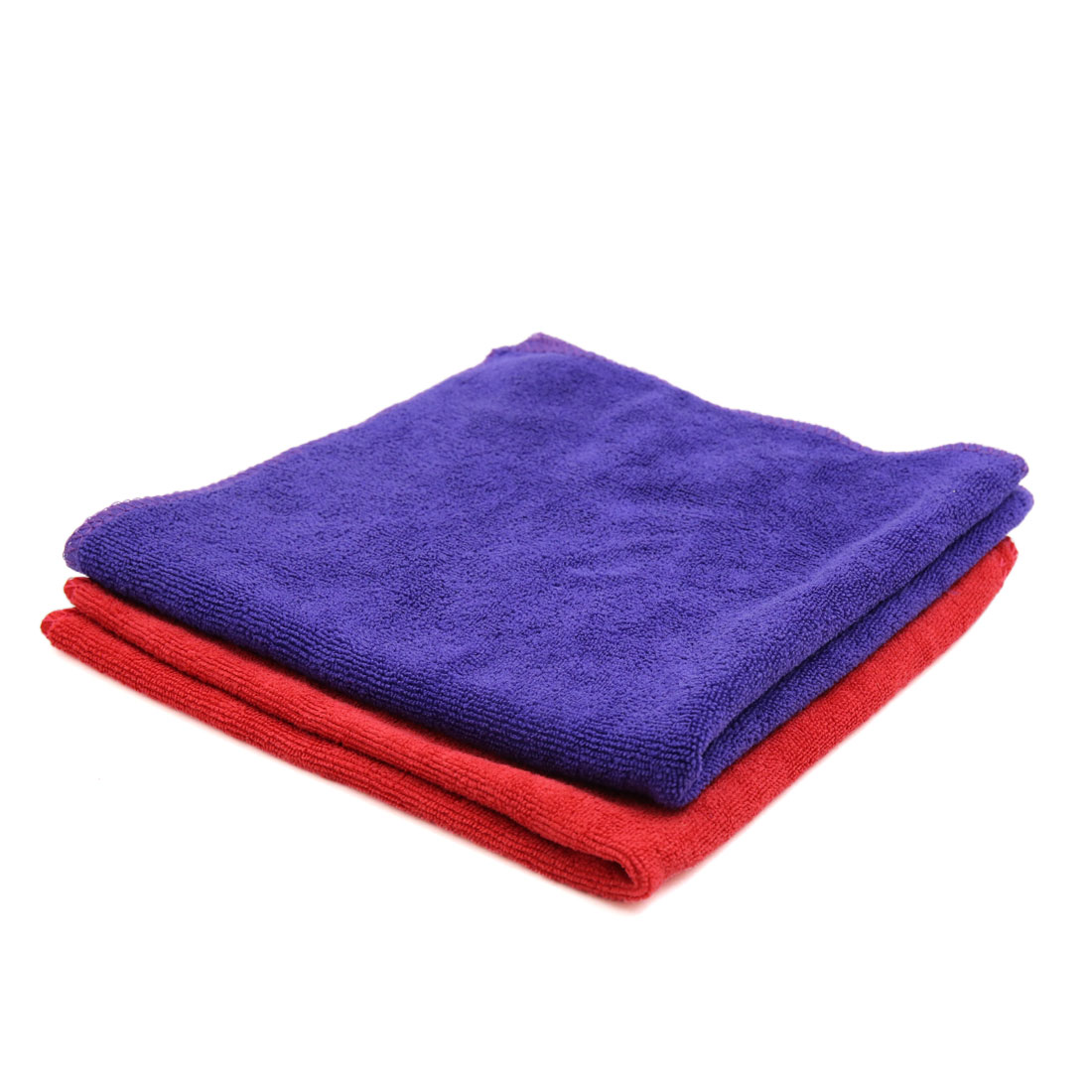 2 Pcs Water Absorbent Microfiber Fabric Car Clean Cloth Towel No-scratched for Auto Door Glass Purple Red