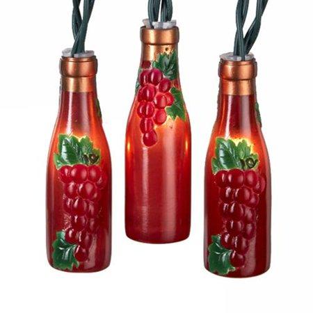 kurt adler 10 light wine bottle christmas lights