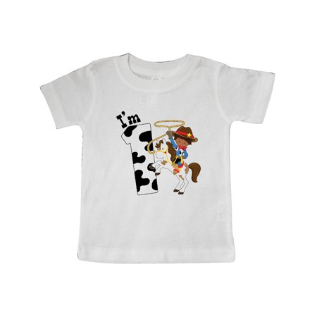 I'm One-cowboy riding horse birthday Baby T-Shirt
