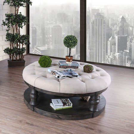 Furniture Of America Tanenbaum Rustic Round Coffee Table